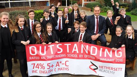 Hethersett Academy secured its 'outstanding' Ofsted ranking in 2016. It is one of the county's most