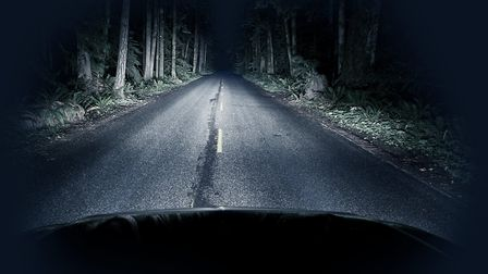 Night driving through a dark forest. Picture: Getty Images/iStockphoto