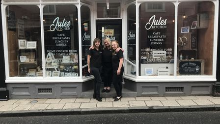 Mel, Jules and Chelsea of Jules Kitchen in Aylsham, that is now offering Slimming World-friendly tak