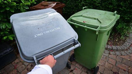 Broadland District Council recycling bin.Picture: ANTONY KELLY