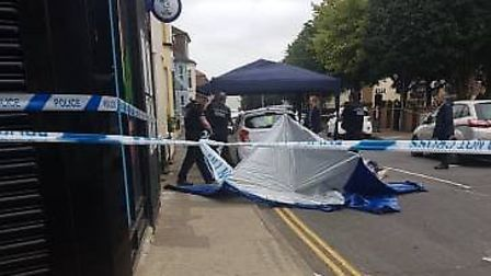 A man was stabbed in a large street fight involving around 20 people in Great Yarmouth. Picture: Meg