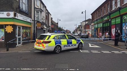 A police cordon was in place at the top of King Street and St Peter's Road in Great Yarmouth Picture