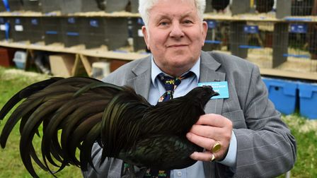 Colin Clark received a long service award after 65 years working at the Royal Norfolk Show, pictured
