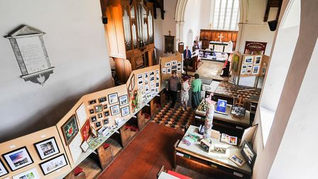 The church was filled with art works for the week Picture: Ian Burt Photography