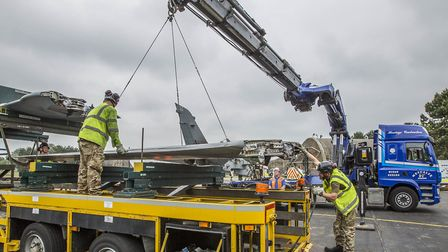 Five Tornados returned to their original home at RAF Honington in various pieces by road with the as