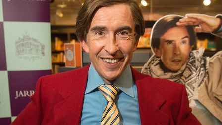 Alan Partridge book signing of NOMAD at Jarrold in Norwich Credit: Paul John Bayfield