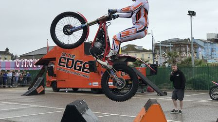 On the Edge stunt show at Great Yarmouth Wheels Festival. Picture: Neil Didsbury