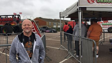 Dale Freeman, 48, from Cambridge, extended his holiday in Great Yarmouth so he could enjoy the festi