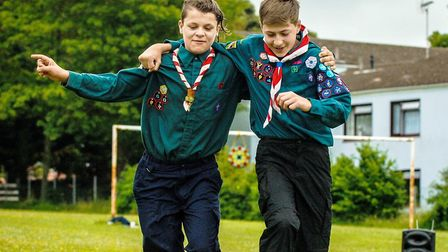 Sam and Tom, from the 1st Hunstanton Scouts at Have a Field Day fete in Hunstanton. Picture: Chris B