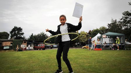 Hula hoop competitors showed off their skills at the Have a Field Day traditional fete in Hunstanton
