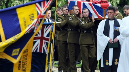 The Funeral of Corporal Lee Scott at St Faiths Church in Gaywood Picture: Matthew Usher