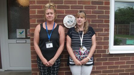 Jo Clark and Jo Riley, who have said they're are devastated The Swallows Day Care Centre will close.