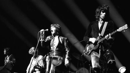 Gimme Shelter - The Rolling Stones in full performance mode in 1969 Photo: PA