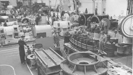 Trade and Industry -- Manufacturing A view of the workshop at Laurence, Scott & Electromotors Ltd,