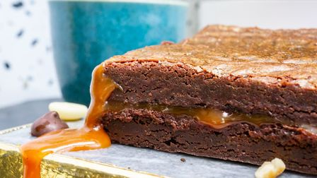 Brownies flowing with salted caramel from Bad Brownie Picture: Bad Brownie