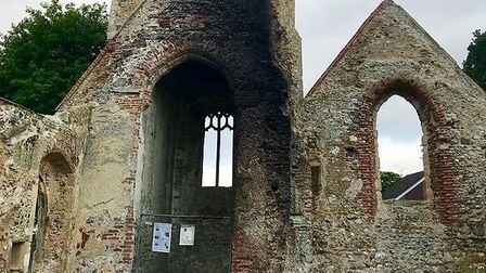 St Margaret's Ruined Church in Hopton was torched in an arson attack in the early hours of Friday mo