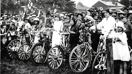 Races at the Dereham Peace Day in 1919. Picture: Gordon Olley Archive