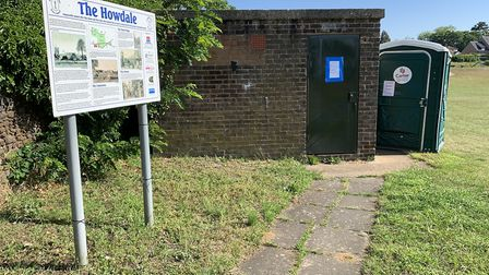 The public toilets on Howdale Road, which could be demolished Picture: Sarah Hussain