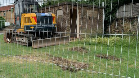 The Howdale public toilets being demolished.