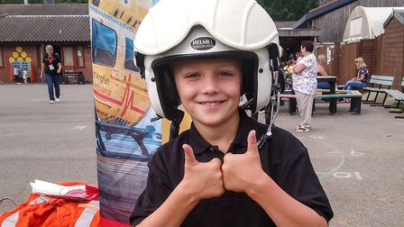 Jack Jinkerson, 8, wanted to turn his late father's birthday into something positive. Picture: Contr