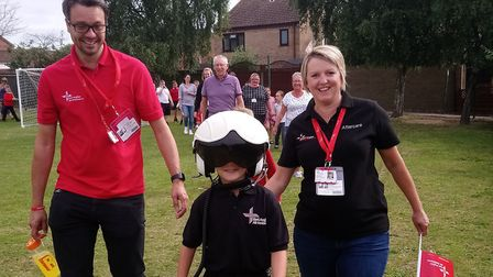 Jack Jinkerson, from Grove Primary School, in Lowestoft came together his peers to raise funds for t