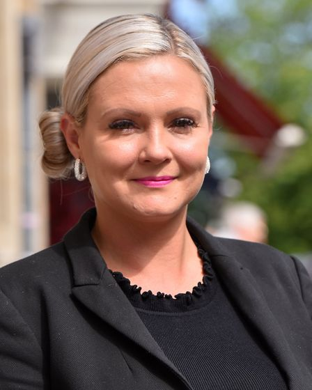 Liza Dunnell, General Manager, outside the St Giles House Hotel, Norwich. Picture: Jamie Honeywood
