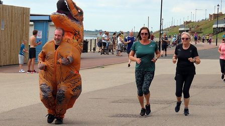 It was fancy dress time for this parkrunner at Gorleston. Picture: Richard Knibb