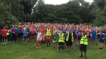 parkrunners get ready for the start at Thetford. Picture: Graham Wade