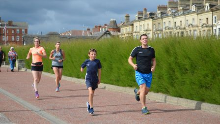 Action from Lowestoft parkrun on Saturday. Picture: Jessica Milner