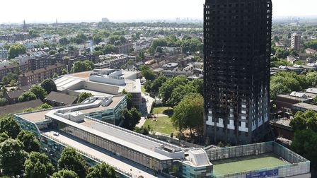 The aftermath of the Grenfell Tower fire in June 2017