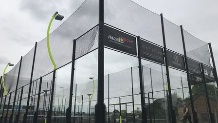 The new Adidas padel tennis courts at Heywood Health and Fitness in Diss which cost around £90,000.