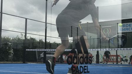 The new Padel tennis courts at Heywood Health and Fitness in Diss which cost around £90,000. Picture