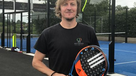 Tom Bobbins outside the new padel tennis courts at Heywood Health and Fitness in Diss, which he runs