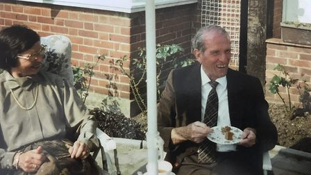 Former-German soldier Herr Fricke and Peter Garland reunited after 50 years. Photo: Norfolk Police