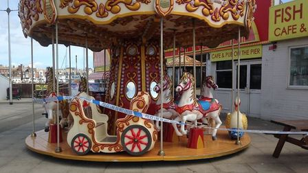 The Family Entertainment Centre, on Lowestoft's South Pier was closed following a burglary, Picture