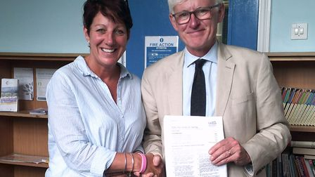 Norman Lamb MP visits one of the Short Stay School for Norfolk's bases to mark the school's Ofsted r