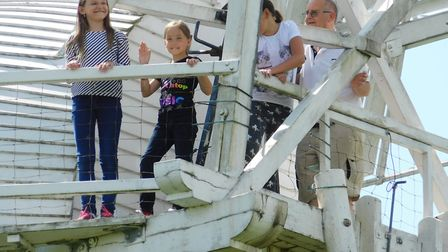 Ten children, aged nine and 10, came to Beccles and stayed with host families. Picture: Contributed
