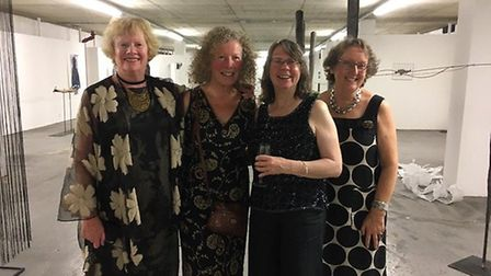Artists (left to right) Alison Dunhill, Lydia Haines, Esther Boehm, Helen Breach will be running fre
