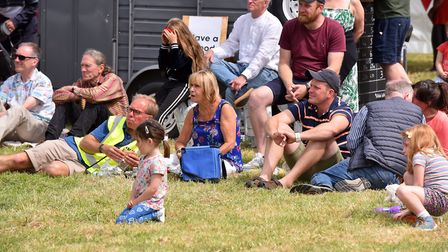 Spectators at the annual Great Bungay Duck Race 2019. Picture: Jamie Honeywood