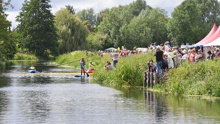 The annual Great Bungay Duck Race 2019. Picture: Jamie Honeywood