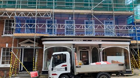 The former Clarke's Ironmongers in Aylsham's Market Place is being converted to an Italian restauran