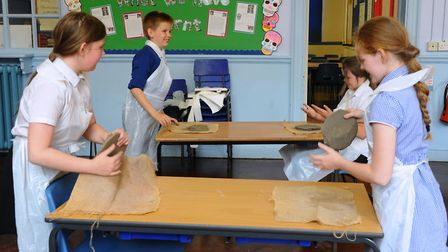 Pupils enjoying their after hours Art Club at Eastgate Academy at King's Lynn. Eastgate Academy is a