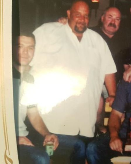 Rod Kemp (centre) before he lost almost 15 stone. Photo: Courtesy of Slimming World