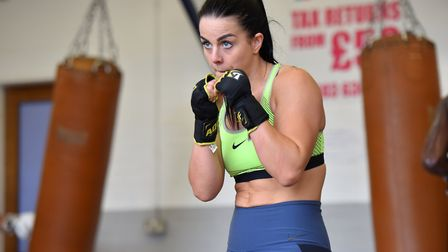 Eye on the prize - Norfolk's first female pro boxer, Stevi Levy Picture: Jamie Honeywood