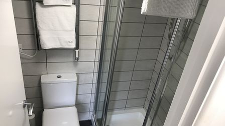 A fully-fitted shower room for guests inside LDF 1 - the AirBnB property which was converted from an