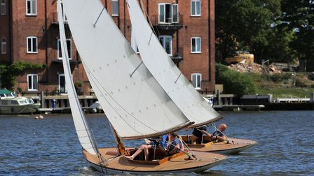 Action from the Summer Weekend Regatta at Waveney & Oulton Broad Yacht Club Picture: Karen Langston