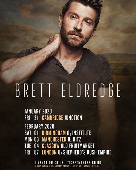 Country singer-songwriter Brett Eldredge. Picture: Supplied by Lime Tree Music