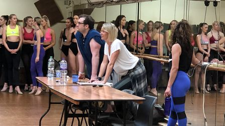 Dance Auditionees for Thursford Christmas Spectacular. Picture: The Corner Shop