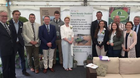 Easton and Otley College staff members and guests at the launch of the new Farm Ready Student projec
