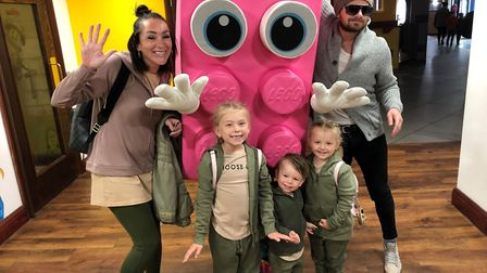 David Bloomfield with his wife Toni, daughters Coco and Kiki and son East. Picture: David Bloomfield